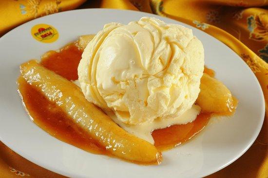 Sorveteria Bali: Banana Flambada com sorvete de creme