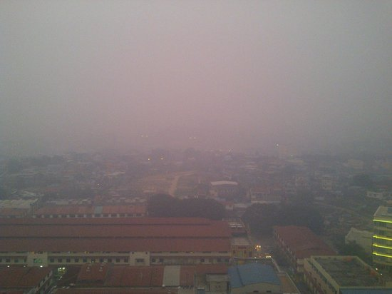 The BCC Hotel & Residence: view from 17th floor, when smoke attack batam city