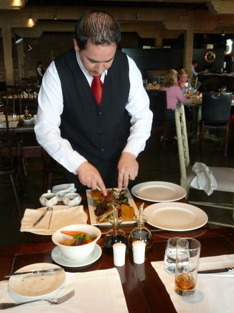 The Singular Patagonia: dinner in the restaurant - not always personally served but always silver service