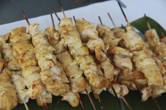 Noosa Cruising Restaurant: Chicken Kebabs