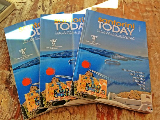 Rocabella Santorini Resort & Spa: Some cute and informative booklets