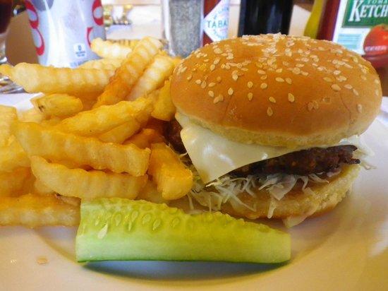 Joy Hotel Restaurant : burger and fries