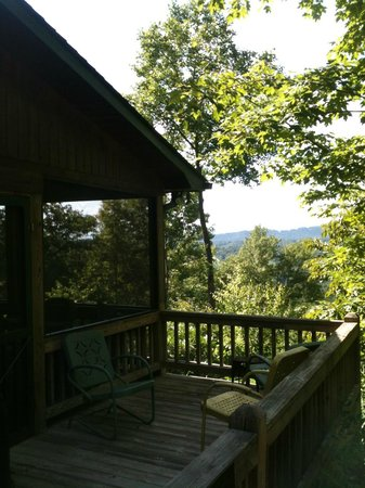 Above the Rest Cabins: side porch, main porch screened