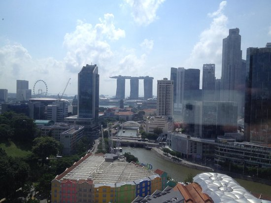 Novotel Singapore Clarke Quay: View from our room on the 20th floor.