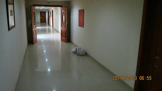 Le Park Hotel : Trash in the hall....there for three days