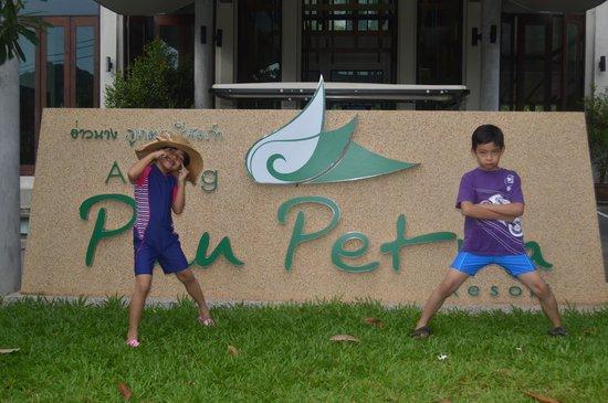Aonang Phu Petra Resort, Krabi Thailand: front signage