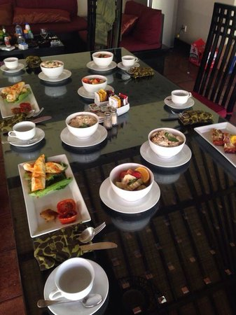 The Ulin Villas & Spa: Our daily breakfast