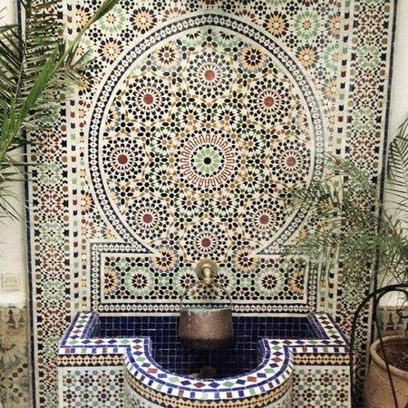 Riad lalla fatima : La fontaine au coeur du riad