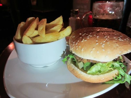 The Black Bull: One of the burgers