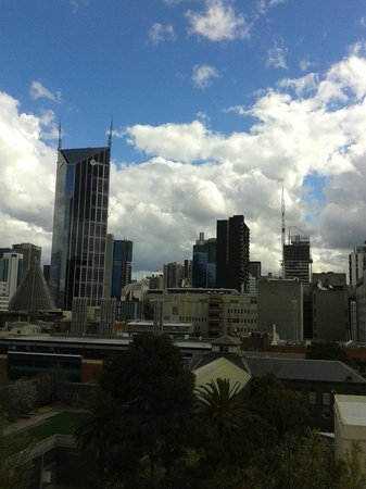 view from room, Space Hotel is right next to the Melbourne Goal
