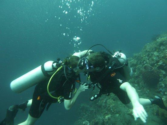 Adventure Scuba Diving Bali: Underwater kissing