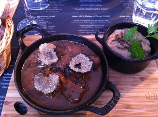 Le vin au 10 : Beef with truffle