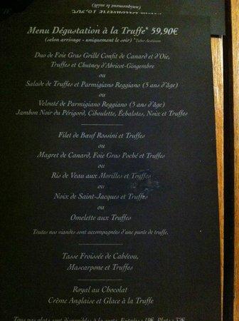 Le vin au 10 : Truffle Degustation Menu