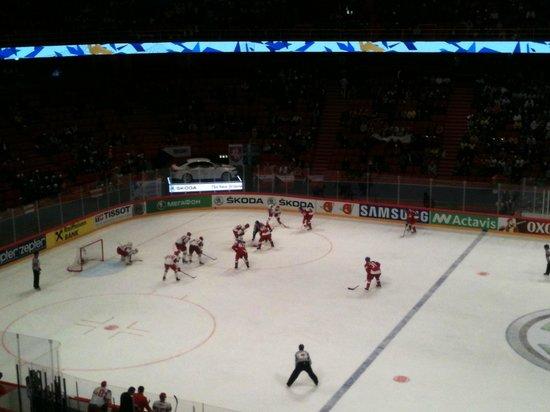 Stockholm Globe Arena: Arena Globe. Чехия - Белоруссия