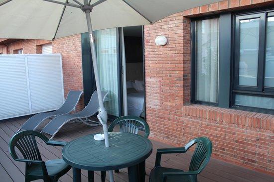 Aparthotel Mariano Cubi : Терраса в номере