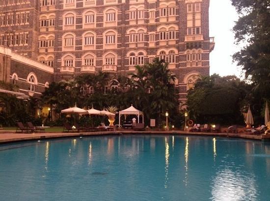 The Taj Mahal Palace, Mumbai: het zwembad!