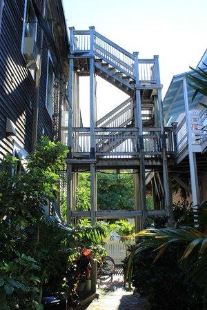 Cypress House Hotel : Key West: Übergang zwischen den Häusern