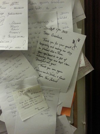 B&B Vatican Point Break: in the hall ,thank you letters for Gianluca