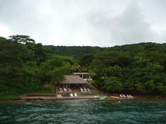 Paradiso Hostel : vue depuis la plateforme flottante