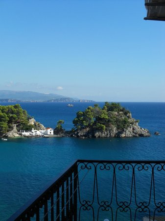 Avra Hotel: View from the balcony, best location in Parga!