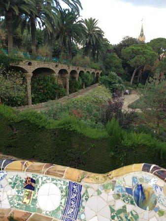 Barcelona Turisme Guided Tour Park Guell: Центральная часть парка
