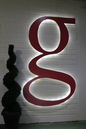 The g Hotel Galway: Garage Signage
