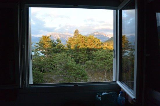 Hotel Eden Lac : paysage vu de la chambre
