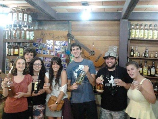 Other Side Hostel: Samplining fine cachaças