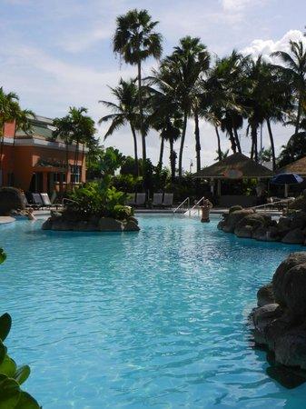 Embassy Suites by Hilton San Juan Hotel & Casino: Quiet pool area
