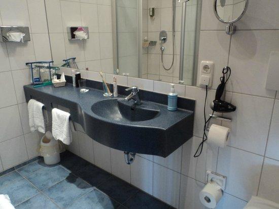 Hotel Bergruh: Ванная комната (двухместный стандарт)