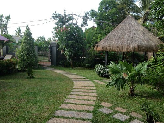 Baby Elephant Boutique Hotel: View from the hotel to the entrance