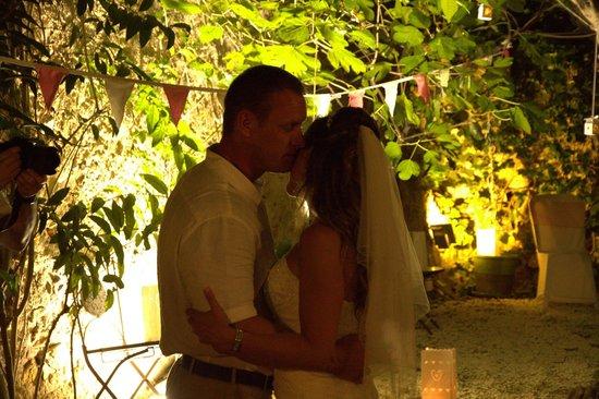 Aroma Cafe & Secret Garden: The first dance!  In the Secret Garden