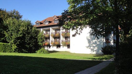 Apparthotel Alte Innbrucke: View vanaf terras/restaurant