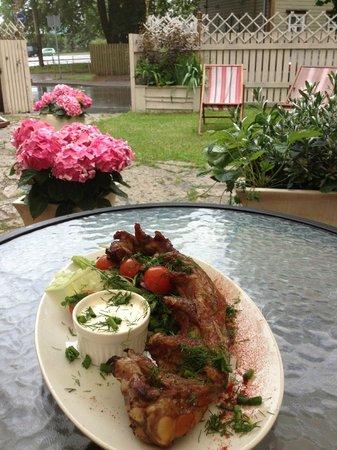 Koleri 2: Home smoked ribs in our restaurant garden