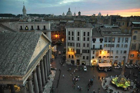 Raffaello Hotel : view from rooftop of sister hotel Albergo del Senato