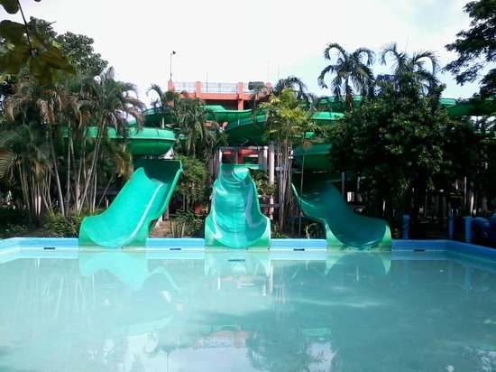 Splash Island: one of the big slides
