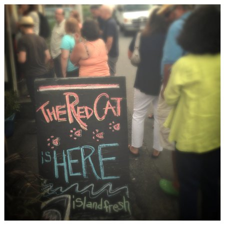 The Red Cat Kitchen at Ken N' Beck: People eagerly waiting to enter THE RED CAT!