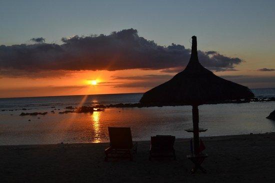InterContinental Mauritius Resort Balaclava Fort: couche de soleil