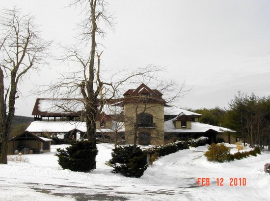 Chateau Morrisette: Snow on the mountain