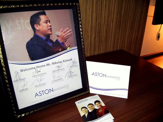 Aston Manado Hotel: A small touch in the service that gave a very warm feeling and welcome when you enter the room.