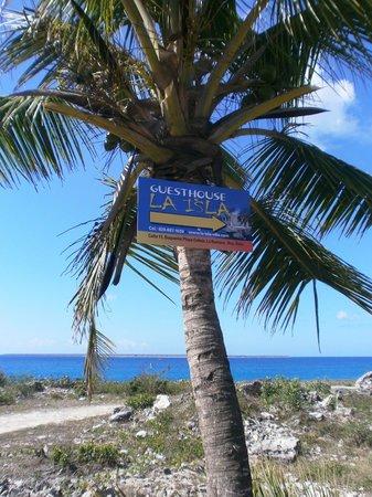 Guesthouse Villa la Isla: vista al mar caribe