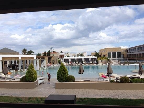 Pelagos Suites Hotel: view from out of our suite