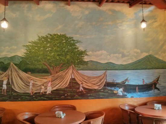 Restaurante Viva Mexico Tia Lupita: Part of the mural in the dining area of Viva Mexico.