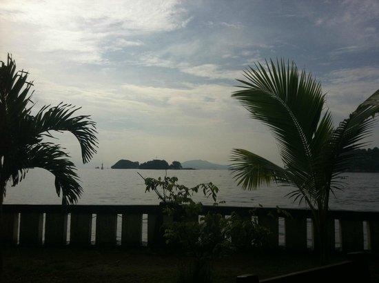 Swiss-Belhotel Papua: Patio where I ate breakfast