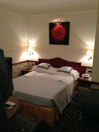 The Britannia Hotel: Our tiny room