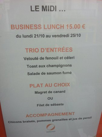 O-Restaurant: Le business lunch