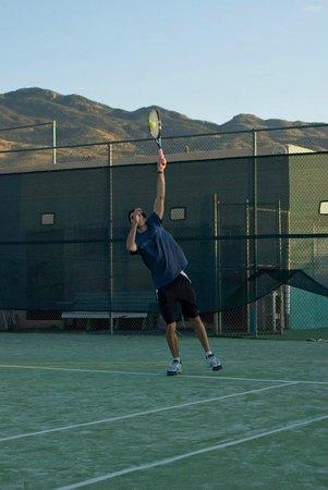 Tanque Verde Ranch: fun on the tennis court (unbeatable views!)
