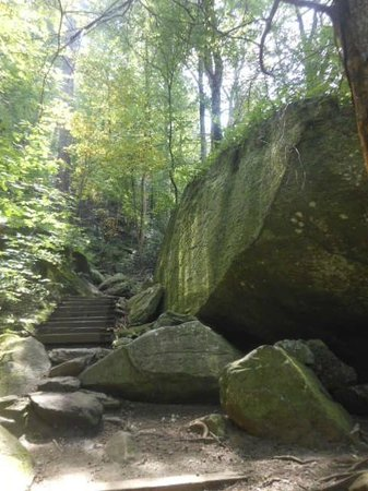 South Mountains State Park: The real size of boulder pictured earlier
