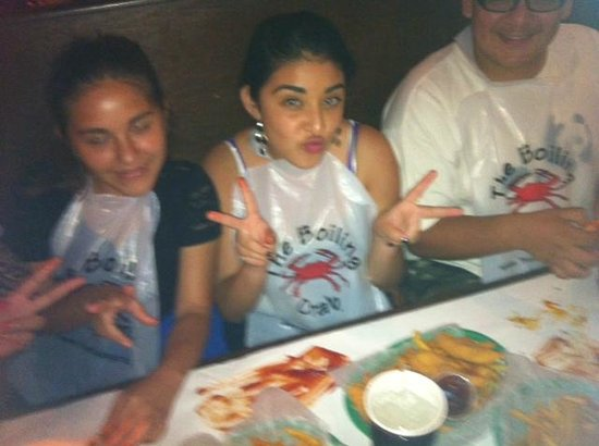 The Boiling Crab: two of my kids