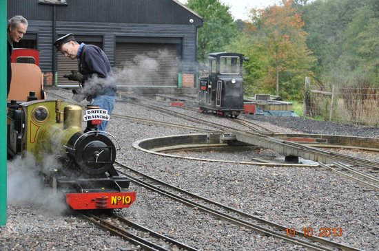 Eastleigh Lakeside Railway: Engine in steam for driver traing